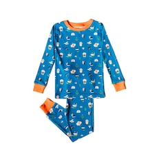 Organic Kids Pajamas  - Funny Creatures - 8T