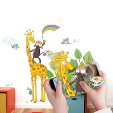 Wall Stories Kids Wall Stickers - Discover Colors - Interactive Animal Wall Stickers for Kids…