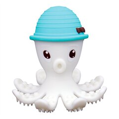Mombella Octopus Teether & Gum Massager, Powder Blue