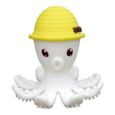 Mombella Octopus Teether & Gum Massager, Lemon