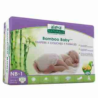 Aleva Naturals Bamboo Baby Couches - nouveau-né à taille 1 ( 4-9lbs) - 32 format