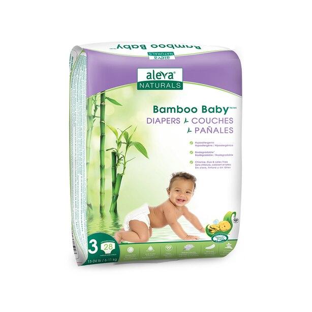 Aleva Naturals Bamboo Baby Couches - nouveau-né à taille 3 ( 13-24lbs) - 28 format