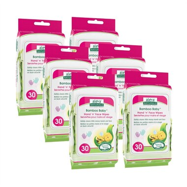 Aleva Naturals® Bamboo Baby® Hand and Face Wipes 180-Pack