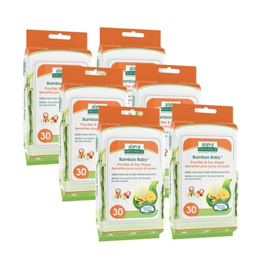 Aleva Naturals® Bamboo Baby® Pacifier and Toy Wipes 180-Pack