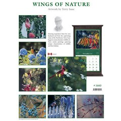 2019 12-MONTH WALL CALENDAR WINGS OF NATURE