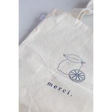 Le sac pour le marché «Merci» Citron