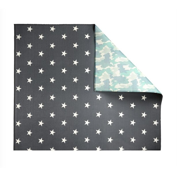 The Pieces Double-Sided Play Mat, Camo/Star