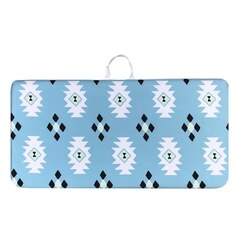 The Pieces™ Quick-Dry and Non-Slip Bath Kneeler Blue Aztec (Print Position May Slightly Differ from…