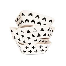 Bamboo Fiber Set of 4 Bowls for Kids