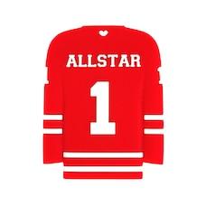 Sloane & Blake Inc. Hockey Jersey Silicone Teether Red