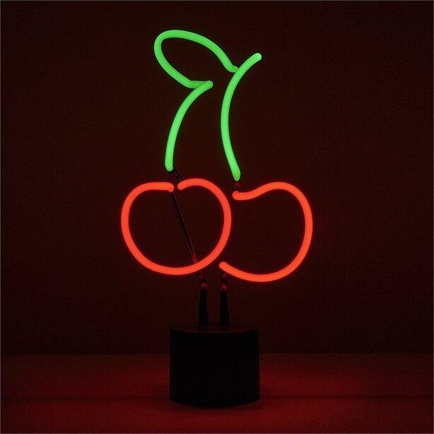 Neon Cherries Table Lamp