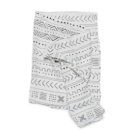 Loulou Lollipop Swaddle Rayon Muslin Cotton Mudcloth White