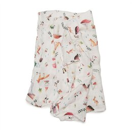 Loulou Lollipop Swaddle Rayon Muslin Cotton - Woodland Gnome