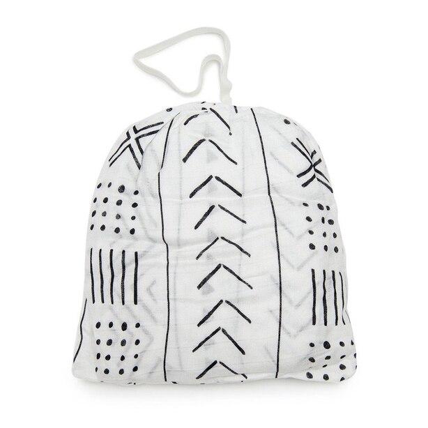 Loulou Lollipop Crib Sheet - Mudcloth White