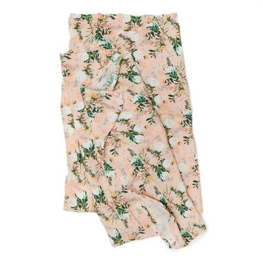 Loulou Lollipop Swaddle Rayon Muslin Cotton - Blushing Protea
