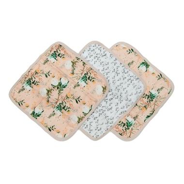 Loulou Lollipop Washcloth 3-pieces Set - Blushing Protea