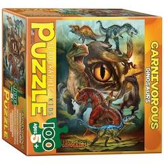 Carnivorous Dinosaurs 100-Piece Puzzle