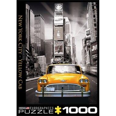 New York City B & W Yellow Cab 1000 Piece Puzzle