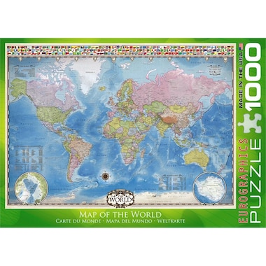Map of World 1000 Piece Puzzle