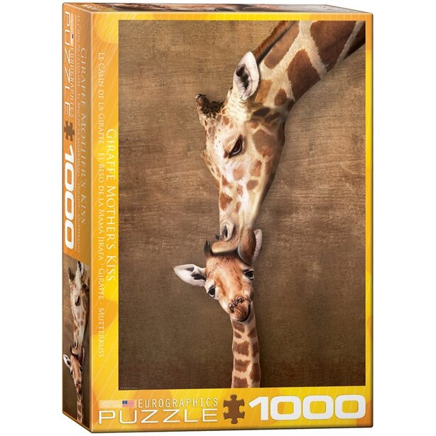1000 PC Puzzle Giraffe Mother's Kiss