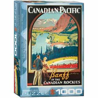 1000 Piece Puzzle CP Rail Canadian Rockies