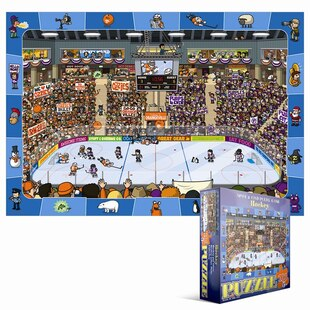 100 Piece Spot & Find Puzzle - Hockey