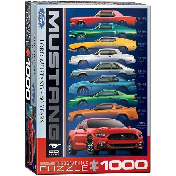Ford Mustang 9 Model 1000-Piece Puzzle