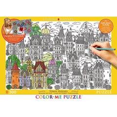 Colour Me Puzzle - 300pc Town Houses