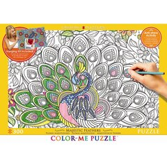 Colour Me Puzzle - 300pc Majestic Feathers (Peacock)