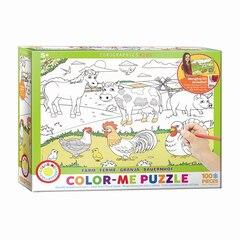 Colour Me Puzzle - 100pc Farm
