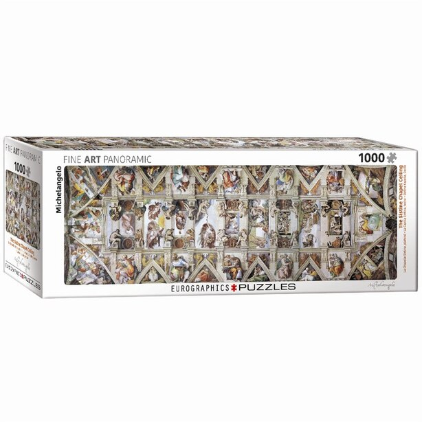 The Sistine Chapel Ceiling 1000 Piece Pano Puzzle