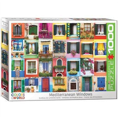 Mediterranean Windows 1000-Piece Puzzle