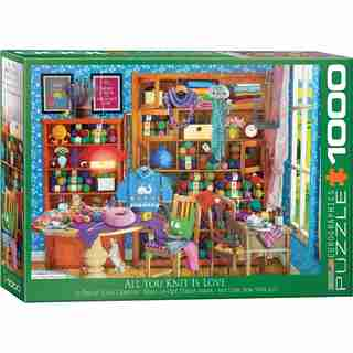 Eurographics Jigsaw Puzzle All You Knit is Love 1000 Pieces