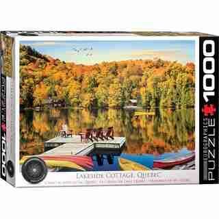 Eurographics Jigsaw Puzzle Quebec Lakeside Cottage 1000 Pieces