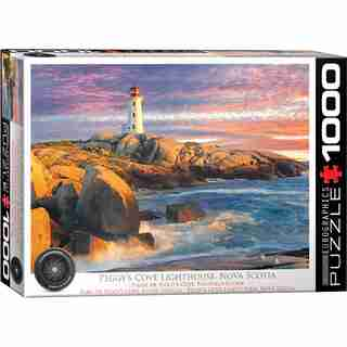 Eurographics Jigsaw Puzzle Peggy's Cove Lightouse 1000 Pieces