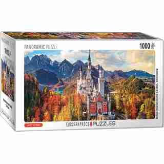 Eurographics Jigsaw Puzzle Neuschwanstein Castle Bavaria Germany 1000 Pieces