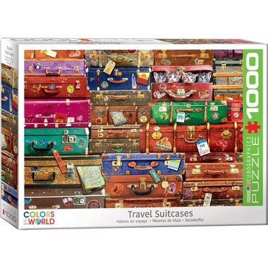 Eurographics Jigsaw Puzzle Travel Suitcases 1000 Pieces