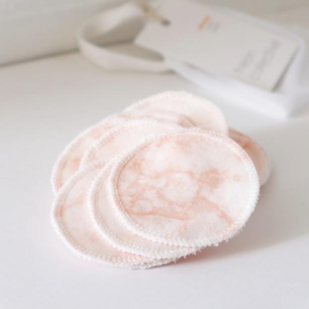 Organic Cotton Facial Rounds Blush Marble