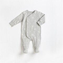 BABY SLEEPER KNIT, HEATHER GREY, 3M