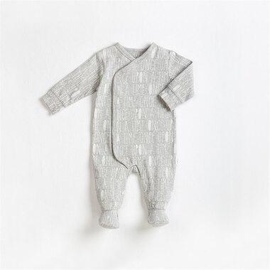 BABY SLEEPER KNIT, HEATHER GREY, 9M