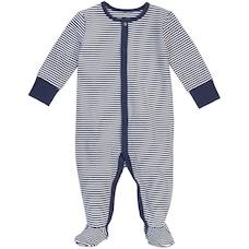 Petit Lem Sleeper Stripe Navy 3 Months