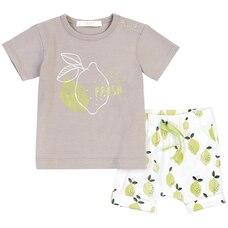 Petit Lem 2-Piece Set T-Shirt Shorts Lime 3 Months