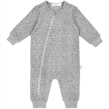 Miles Baby Playsuit Grey 3 Months