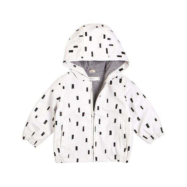 Miles Baby Raincoat - White - 12 Months