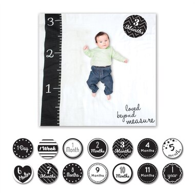 Lulujo Baby's 1st Year Loved Beyond Measure Blanket & Cards Set