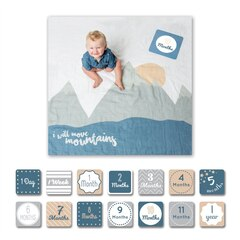 Lulujo Baby's 1st Year I Will Move Mountains Blanket & Cards Set