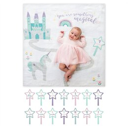 Blanket and Cards Set Baby's First Year Something Magical