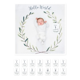 Lulujo - Baby's 1st Year - Hello World Wreath