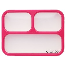 OBNTO LEAK-PROOF BENTO BOX 3 COMPARTMENT PINK