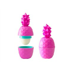 Rebel Rose Pink Geometric Pineapple Shaped Lip Balm